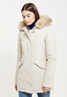 Пуховик, Woolrich, цвет: бежевый. Артикул: WO256EWUPH60. Премиум / Одежда / Верхняя одежда / Пуховики и зимние куртки