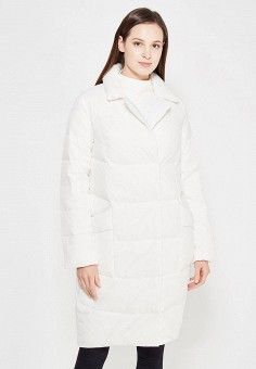 Пуховик, Zarina, цвет: белый. Артикул: ZA004EWXRM12. Женская одежда / Верхняя одежда / Пуховики и зимние куртки