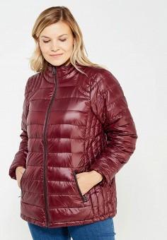Пуховик, Zizzi, цвет: бордовый. Артикул: ZI007EWWCJ39. Женская одежда / Верхняя одежда / Пуховики и зимние куртки