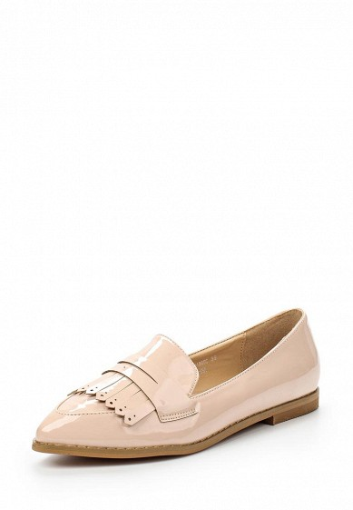Лоферы LOST INK BERLY FRINGED FLAT LOAFER - NUDE PATENT