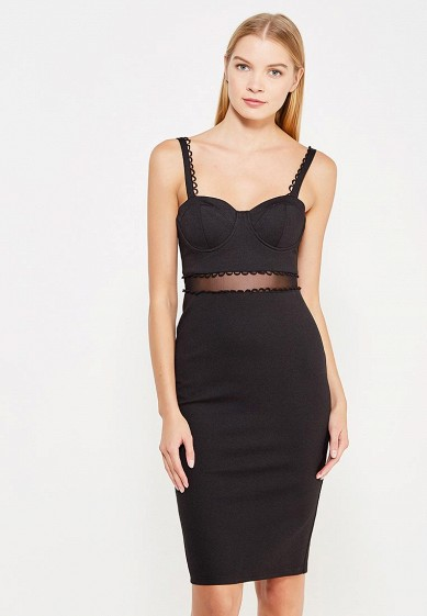 Платье LOST INK SHEER WAIST BUST CUP BODYCON
